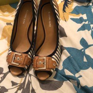 Shoes - Gianni Bini Striped Heels